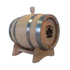 Бочка «Ставропольский бондарь» 5 литров внутренний обжиг сильный