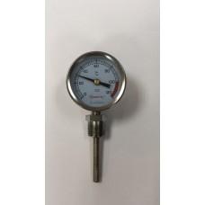 Термометр осевой (латунь)