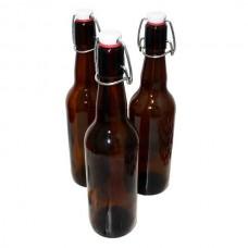 Бутылка с бугельной пробкой коричневое стекло, 0,5 л